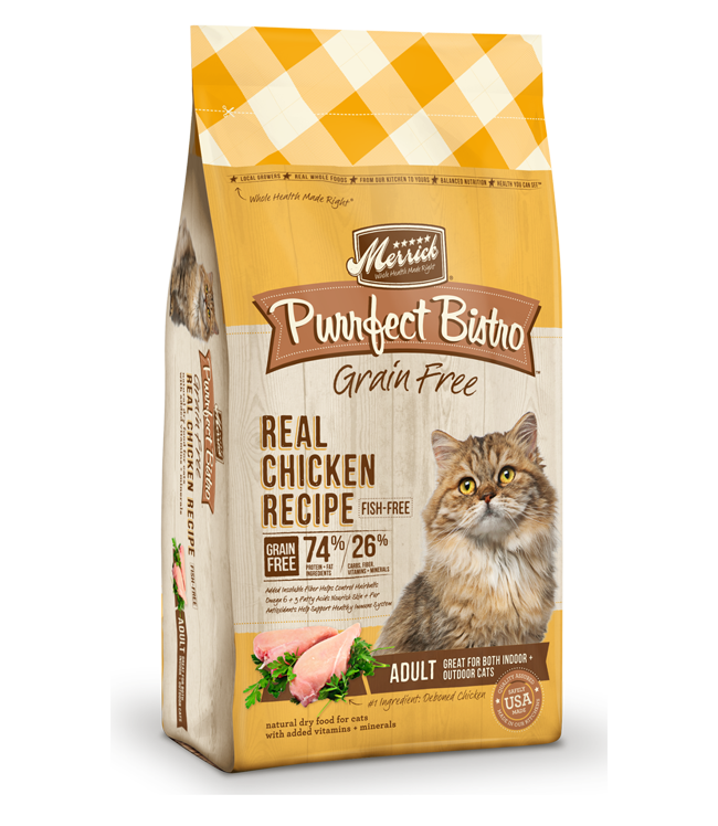 Merrick purrfect bistro recipes real chicken grain free dry cat purrfect bistro grain free real chicken recipe forumfinder