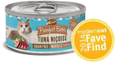 Merrick Purrfect Bistro Tuna Nicoise Grain Free cat food cat is Modern Cat 2014 Fave Find