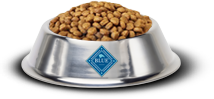 Blue Buffalo bowl of dog food
