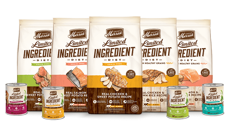 limited ingredient diet dog food product line