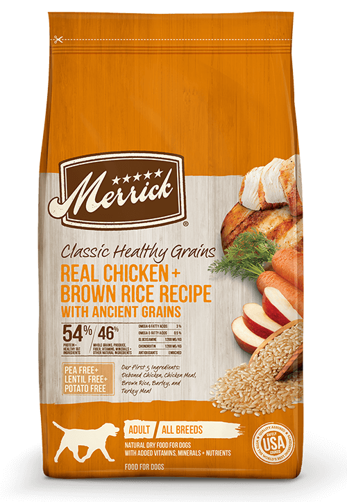Merrick Classic Healthy Grains Chicken and Brown Rice Recipe