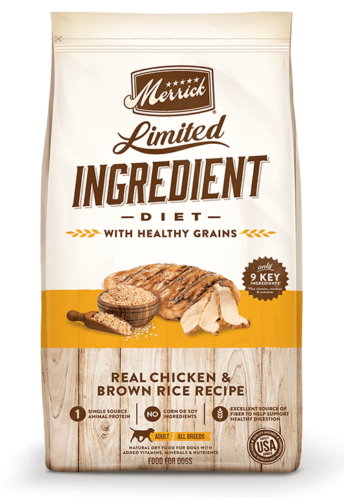Merrick LID Healthy Grains Chicken and Brown Rice Recipe