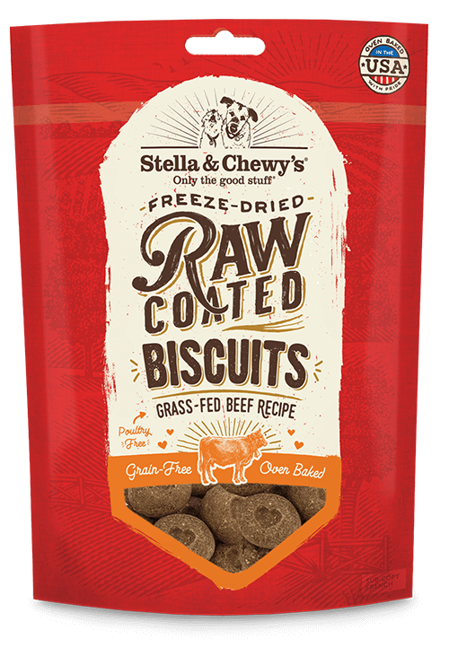 Stella and Chewys Raw Coated Biscuits Beef Recipe
