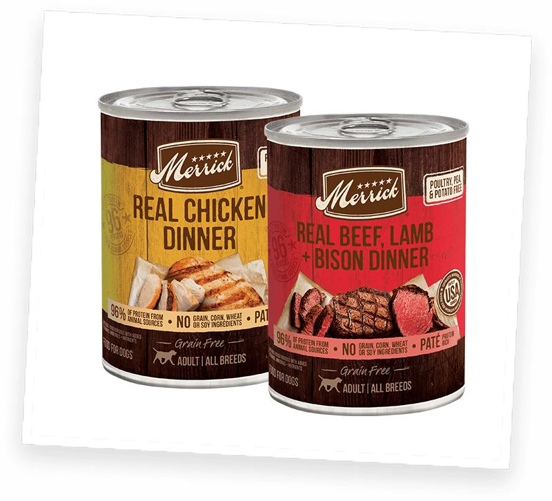 Merrick Grain Free Real Chicken and Real Beef Wet Dog Food