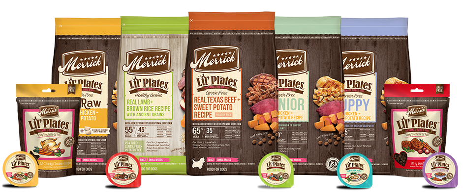 Merrick Lil Plates Dry Dog Food and Wet Dog Food for small dogs