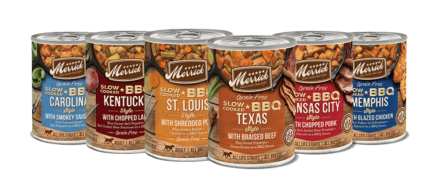 Merrick Wet Dog Food Slow-Cooked BBQ Recipes