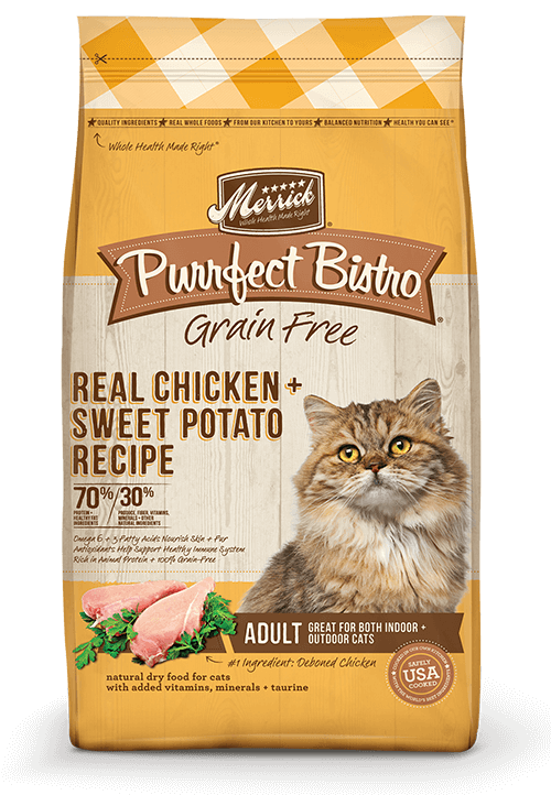 Merrick Purrfect bistro GRain Free chicken sweet potato