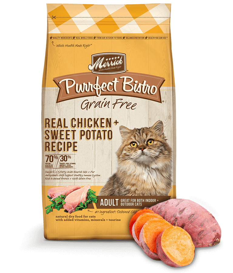 Purrfect Bistro Grain Free Real Chicken and Sweet Potato Recipes